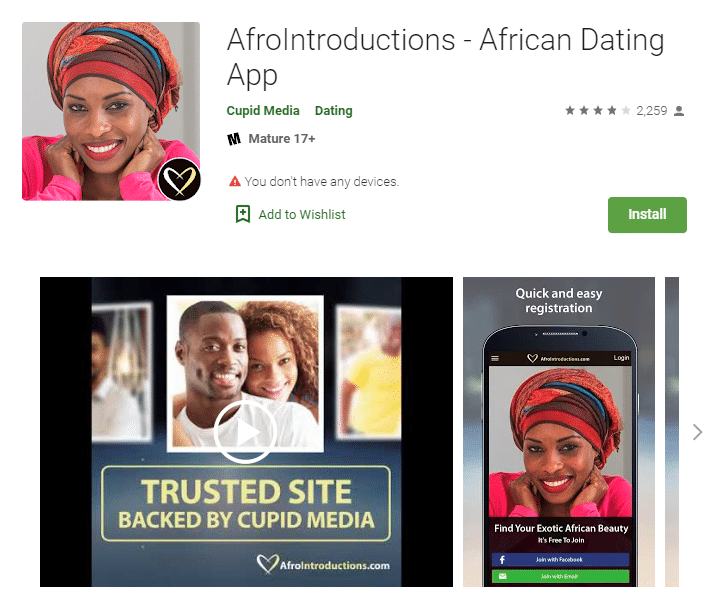 AfroIntroductions dating app