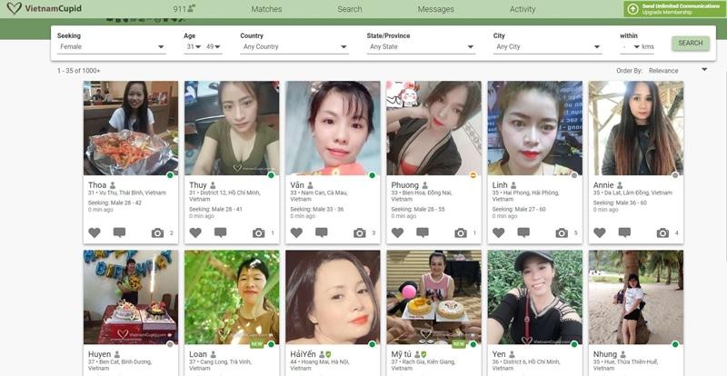 ladies on vietnamese cupid