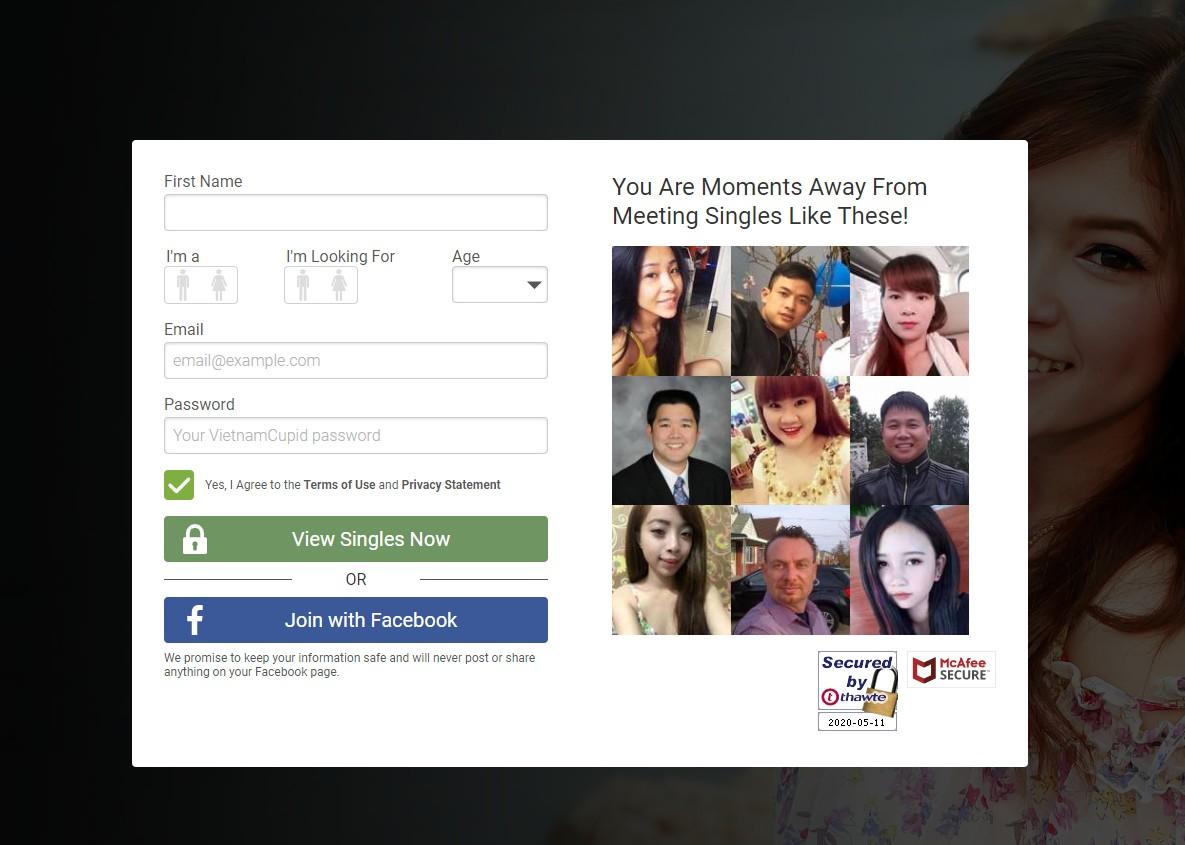 register on vietnamese cupid